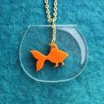 Goldfish Necklace,Plexiglas..