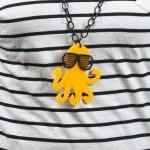 Canary Yellow Octopus Neck..